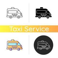 ícone de ônibus de transporte vetor