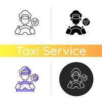 ícone de motoristas verificados vetor