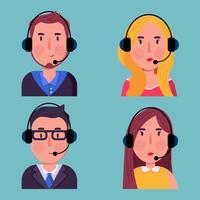 Vetor de desenhos animados de caráter de serviço ao cliente