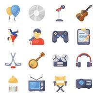 acessórios e equipamentos de entretenimento vetor