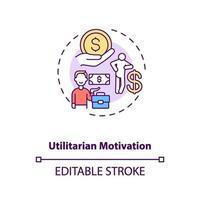 ícone do conceito de motivação utilitária vetor