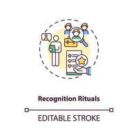 ícone do conceito de rituais de reconhecimento vetor