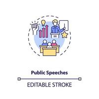 ícone do conceito de discursos públicos vetor