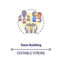 ícone do conceito de construção de equipes vetor