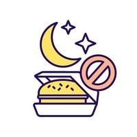 nenhum ícone de cor rgb de junk food vetor