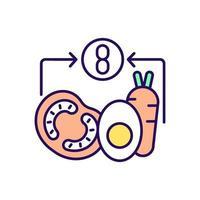 ícone de cor rgb refeição saudável vetor