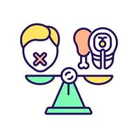 ícone de cor rgb de dieta vetor