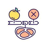 ícone de cor rgb de dieta em jejum intermitente vetor