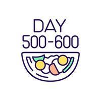 ícone de cor rgb plano de dieta vetor
