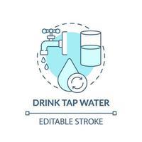 beber água da torneira ícone do conceito vetor