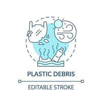 ícone do conceito de entulho de plástico