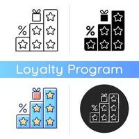 ícone de mais pontos e recompensas vetor
