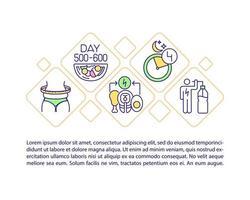 ícone do conceito de perda de peso com texto vetor