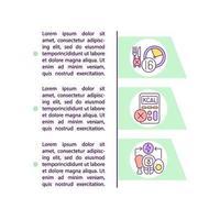 ícone de conceito de método de dieta em jejum intermitente com texto vetor