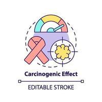 ícone do conceito de efeito cancerígeno