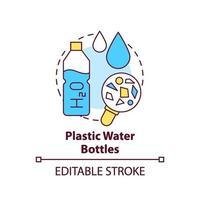 ícone do conceito de garrafas de água de plástico