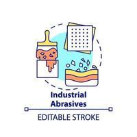 ícone do conceito de abrasivos industriais.