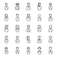 variedade de avatares humanos vetor