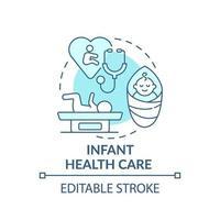 ícone de conceito azul de cuidados de saúde infantil vetor
