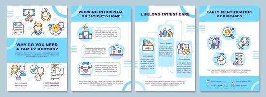 por que você precisa de um modelo de folheto médico de família vetor
