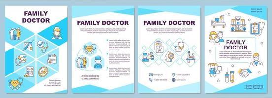 modelo de folheto médico de família vetor