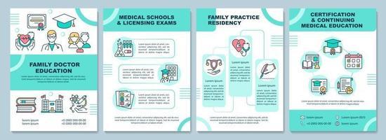 modelo de folheto educacional de médico de família vetor