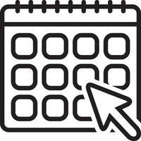 ícone de linha mensal