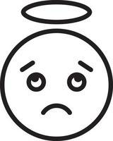 ícone de linha para confuso vetor