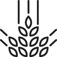 ícone de linha para cereal vetor