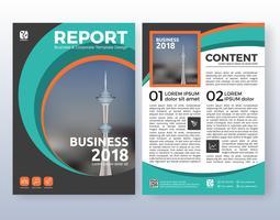 Projeto de layout de folheto de múltiplos propósitos empresariais. Adequado para vetor