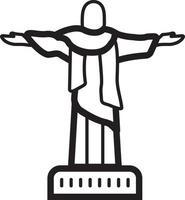 ícone de linha para cristo vetor