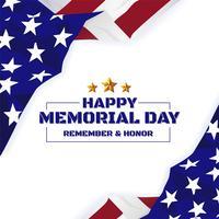Feliz dia do Memorial de fundo. Bandeira da bandeira dos EUA com espaço de cópia vetor