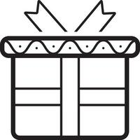 ícone de linha para presente vetor