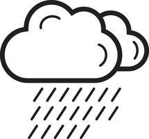 ícone de linha para nuvem vetor
