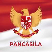 dia da pancasila na indonésia vetor
