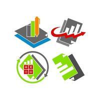 contabilidade contabilidade conjunto de vetores modelo de design de negócios