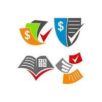 conjunto de vetores de modelo de design de papel de contabilidade contábil