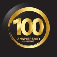 Ilustração de design de modelo vetorial de aniversário de 100 anos vetor