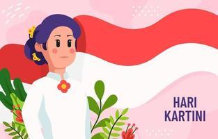 fundo de celebração do dia de kartini vetor