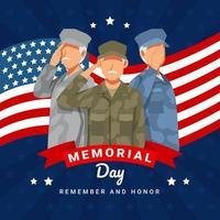 conceito de celebração do dia do memorial vetor