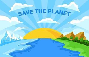 salvar o conceito de planeta vetor