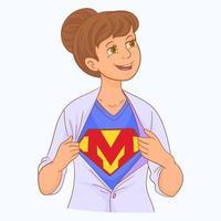 minha mãe é minha verdadeira super-heroína vetor