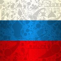 Fundo de decoração de bandeira da Rússia vetor