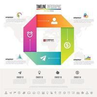 modelo de design de infográficos com conjunto de ícones vetor