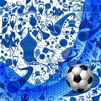 Fundo abstrato de futebol vetor