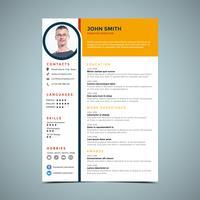 Modelo de Design de Currículo Amarelo vetor