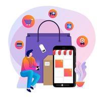vetor de compras online