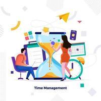 gerenciamento de tempo no vetor de negócios