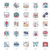 coleção de ícones inverno, primavera, verão, outono