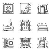 hardware de computador tecnológico vetor